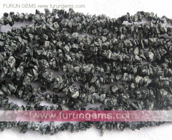 snowflake obsidian chips 5-7mm