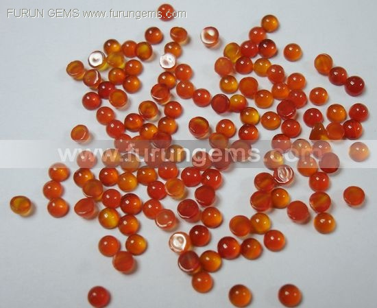 carnelian 4mm round cabs
