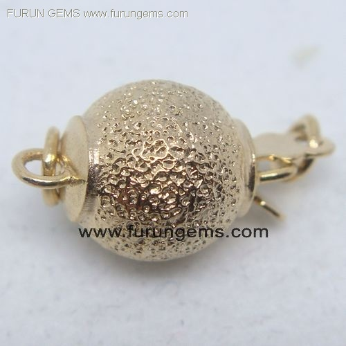 silver 925 gold colour round beads clasp