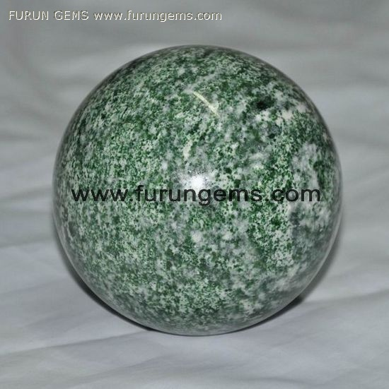 green spot jade sphere/ ball