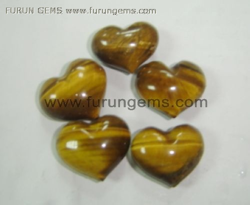 yellow tiger eye puff heart