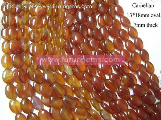 carnelian/red agate oval beads 18x13mm
