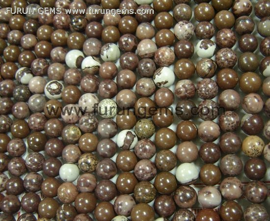 flower jasper round beads 10mm 40cmlong