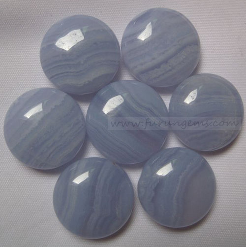 blue lace agate bi-convex go stone 190pcs/set