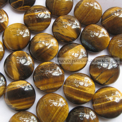 tiger eye bi-convex go stone 190pcs/set