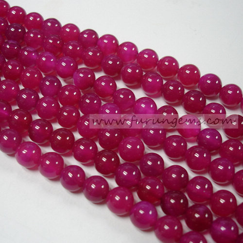 pink agate  round beads (many sizes available)