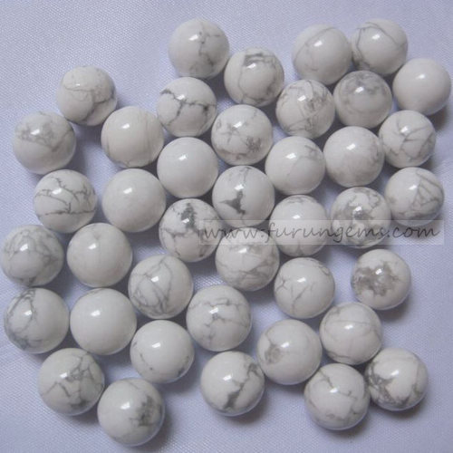howlite sphere/ball 12mm ,no hole