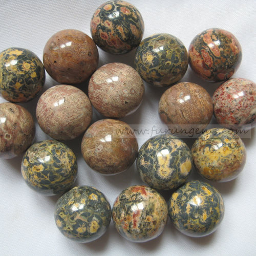 leopard skin jasper sphere/ball 16mm ,no hole