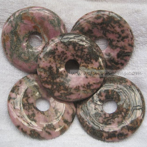 rhodonite donut 50x10mm