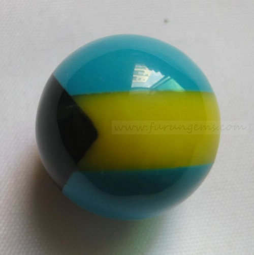 synthetic turquoise mosaic beads bahamas flag