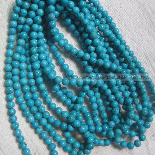 synthetic turquoise round beads 8mm
