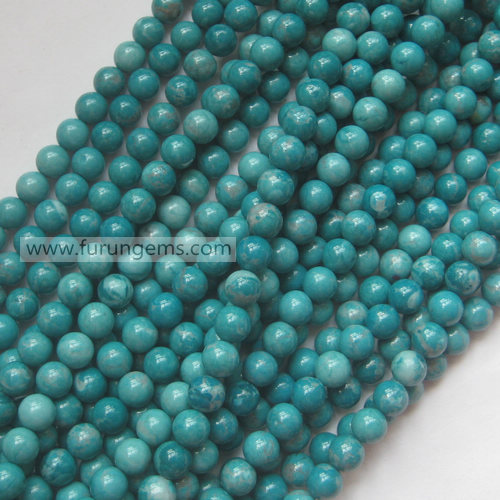 dyed howlite beads 6mm  round beads  green