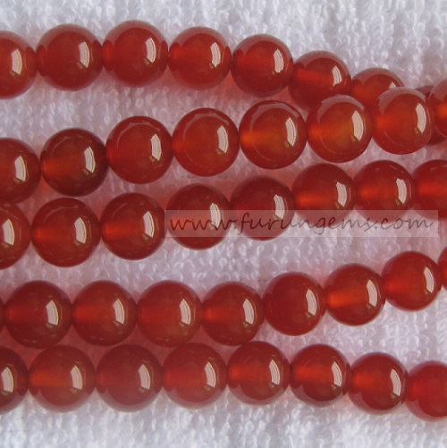 red agate 8mm round beads good quality